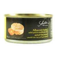 Carrefour Selection Albacore Tuna Solid Pack in Sunflower Oil 185g