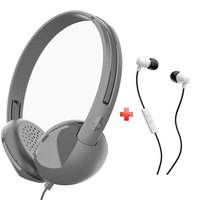 Skullcandy On-Ear Headphone Stim + Skullcandy S2PGGY-397 Earphone With Mic