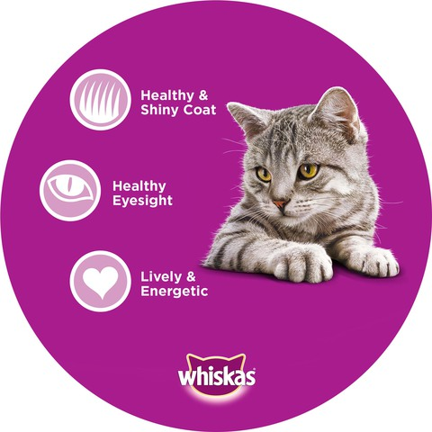WHISKAS®-Purrfectly®-Chicken-Entrée-Wet-Cat-Food-Pouch-85g