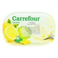 Carrefour Ice Cream Sorbet lemon 1L