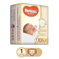 Huggies Baby Diapers Newborn Size 1-5 Kg 21 Diapers