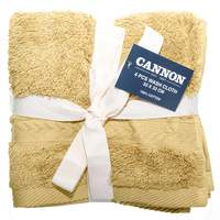 Cannon Face Towel 4pc set Gold 33X33cm