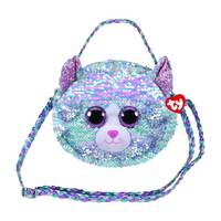 Ty Fashion Whimsy the Blue Cat Sequin Purse