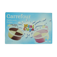 Carrefour Kid Ice Cream Chocolate & Strawberry Pot x12