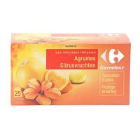 Carrefour tea citrus infusion bags 25