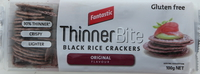 Fantastic Thinner Bite Black Rice Crackers Original 100g
