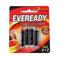 EVEREADY  Super Heavy Duty Battery AAA 4 pieces + 2 Free