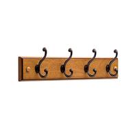 Wooden Hanger For Clothes 4 Hooks