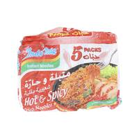 Indomie Instant Noodles Hot & Spicy Fried Noodles 75g x5
