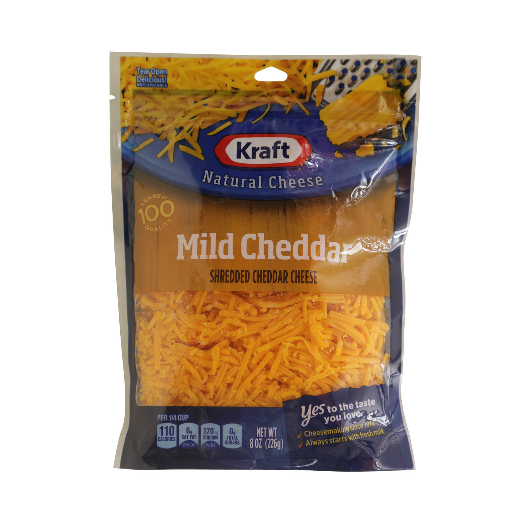 KRAFT SHREDDED CHEDDAR MILD 226G