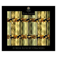 "Chamdol Xmas Gold Mini Luxury Crackers 6 X 8"""