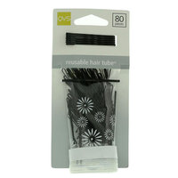 Qvs Black Bobby Pins 80 Pieces