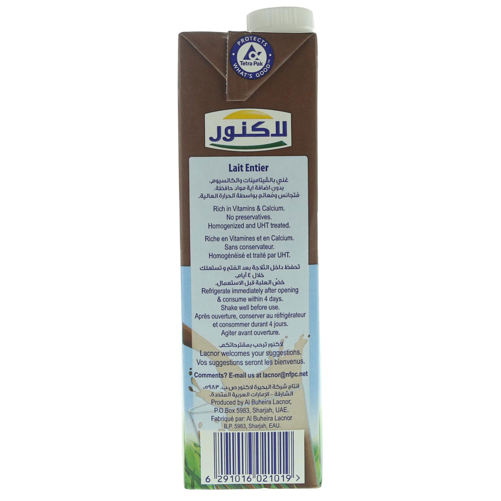 LACNOR UHT MILK CHOCOLATE 1L