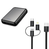 Cellairis Power Bank Pocket 12000mAh + Cable 3 in 1 (Micro, Type-C and Lightning)
