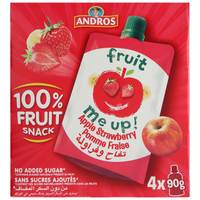 Andros Fruit Me Up Apple Strawberry 90gx4