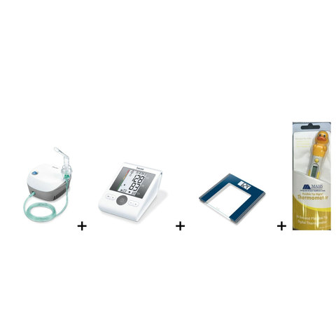 Beurer-Nebulizer-IH18+Blood-Pressure-Monitor-BM28+Scale+Thermometer