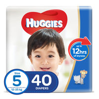 Huggies Baby Diapers Junior Size 5 12-25kg 40 Counts