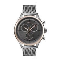 Hugo Boss Men's Watch COMPN Analog Grey Dial Silver Mesh Band 42mm  Case