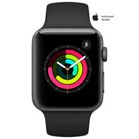 Apple Watch Series-3 42mm Space Gray Aluminium Case With Black Sport Band