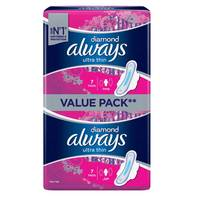 Always Diamond Ultra Thin Sanitary Pad Value Pack Long 14 PAds
