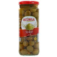 Acorsa Whole Green Olives 470g