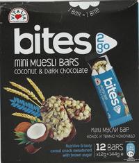 Vitalia Bites Mini Muesli Bars Coconut & Dark Chocolate 144g