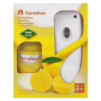 Carrefour Air Freshener Automatic Spray Lemon Dispenser  250ml