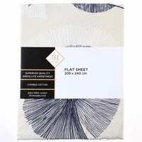 TEX Flat Sheet Double Dark Blue