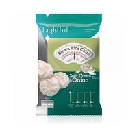 Lightful Brown Rice Chips Sour Cream & Onion 60GR