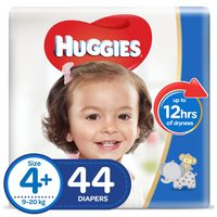 Huggies Super Flex Diapers X-Large Size 4+ 44 Diapers