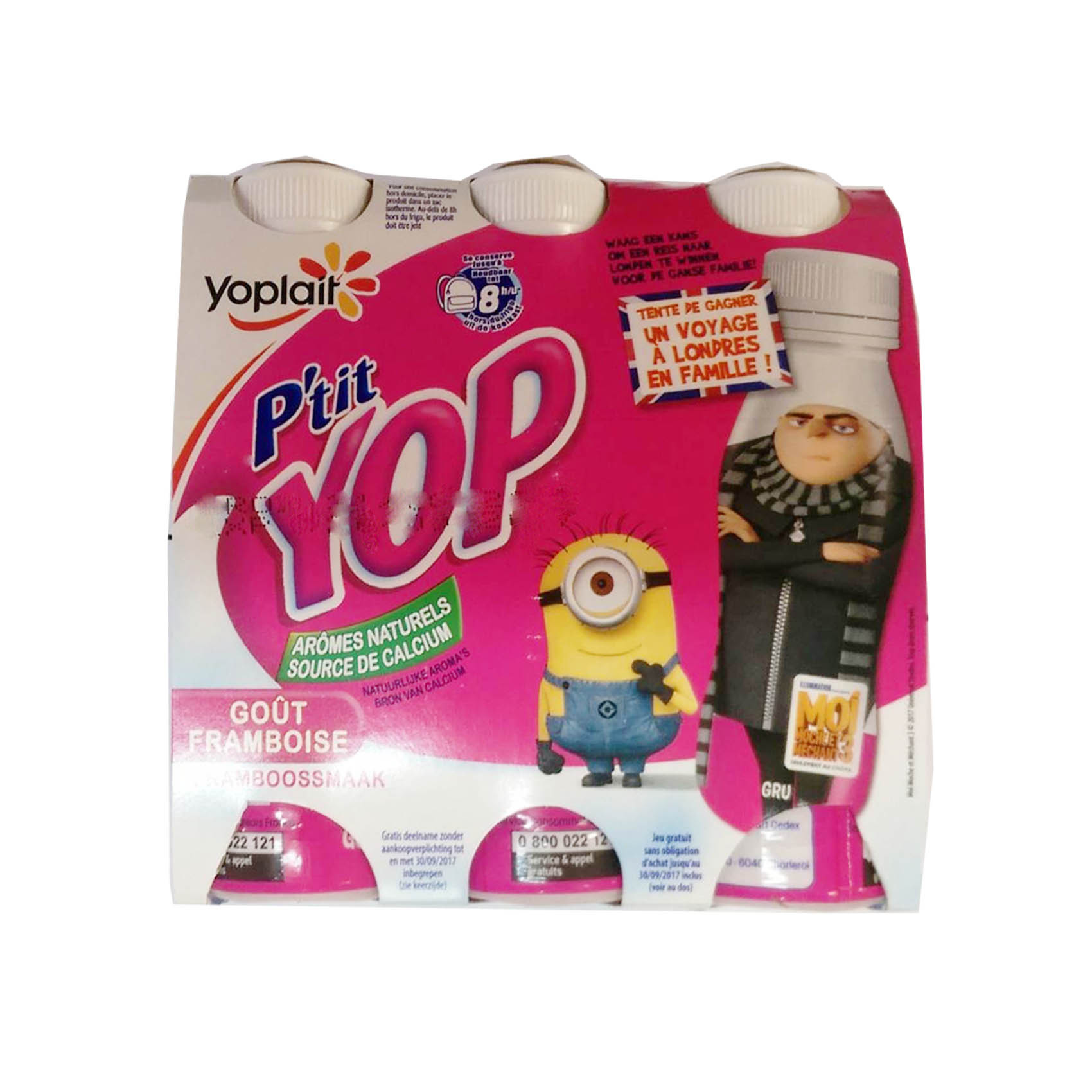 YOPLAIT PETIT YOP RASPBERRY 180GX4
