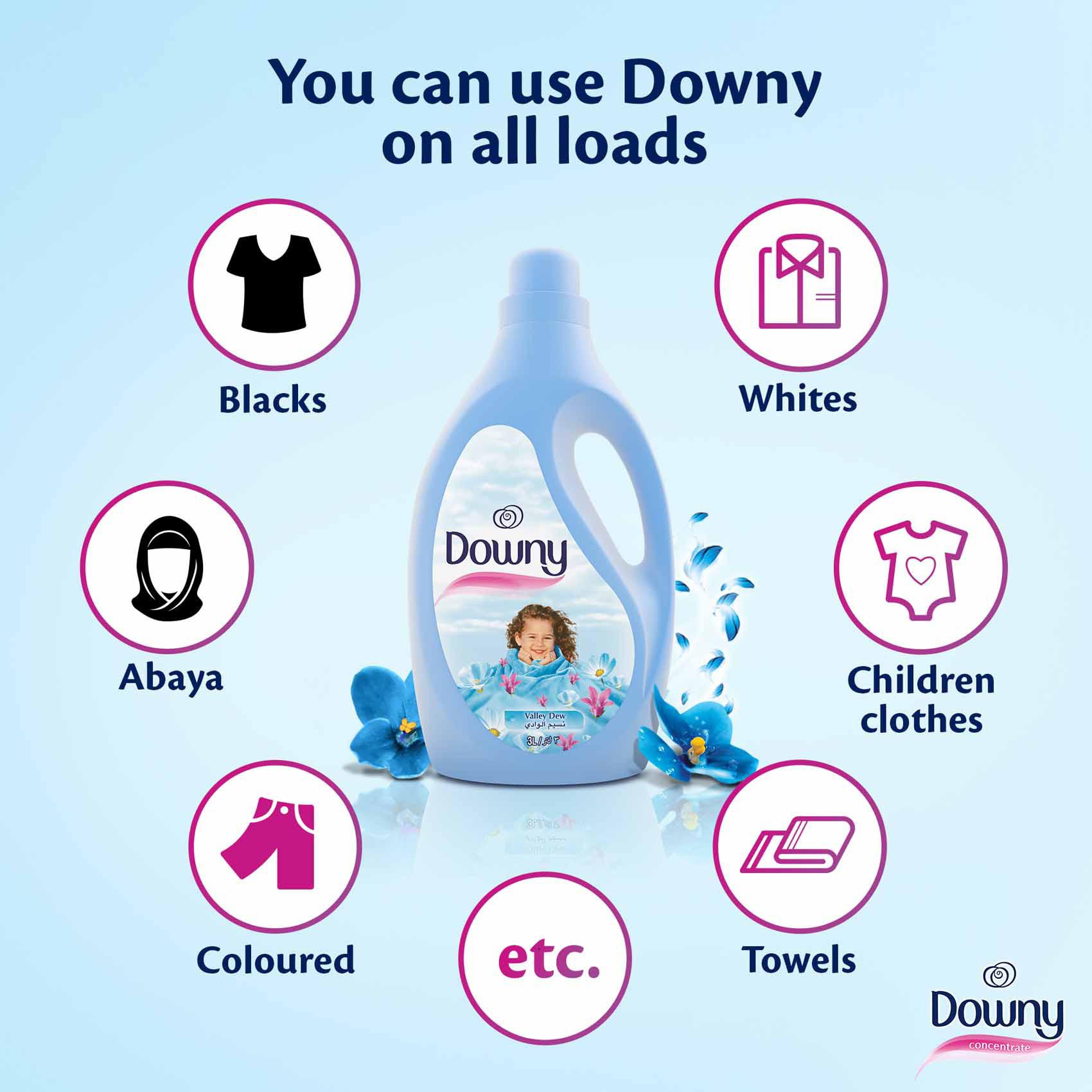DOWNY CINDERELLA VALLEY DEW 3L