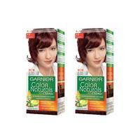 غارنييه صبغة شعر لون عنابي رقم 4.6 قطعتان