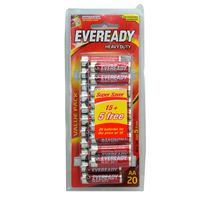 EVEREADY Heavy Duty Battery AA 15 pieces  + 5 Free
