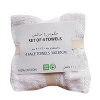 4 Pcs Pack Face Towel 30x30