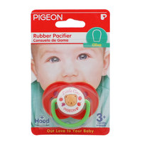Pigeon Rubber Pacifier Olive Red
