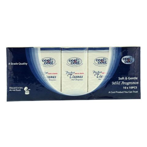 Cool-&-Cool-Mild-Fragrance-Pocket-Tissue-10's-x10