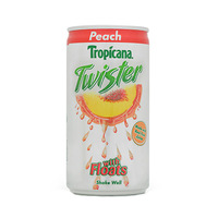 Tropicana Twister Peach Orchard Punch Flavored Drink 180ML
