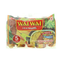 Wai Wai Chicken flavored Instant Noodles (5x75g)