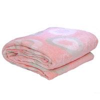 3D Super Soft Flannel Blanket Single Peach