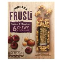 Jordan Juicy Raisin and Hazelnut Frusli Cereal Bar 30gx6