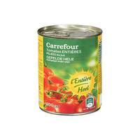 كارفور طماطم قطع كاملة مقشرة 400 غرام