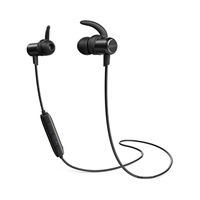 Anker SoundBuds Slim+ Wireless Headphones Bluetooth 4.1 Lightweight Stereo HD Black