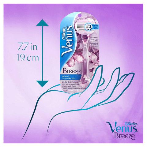Gillette-Venus-Breeze-women's-razor-blade-refills,-4-count