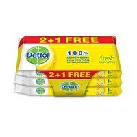 Dettol Fresh Skin Wipes 10 Sheets 2+1 Free