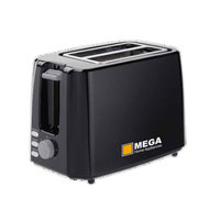 MEGA Toaster TA01301-GS 750 Watt Black