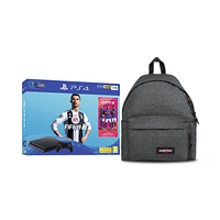 Sony PS4 Slim Jet Black, 1TB + Fifa19 AR Game + 2VCH + Bag Pack Grey
