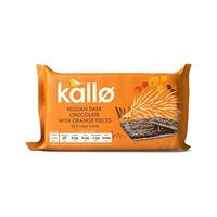 Kallo Dark Chocolate & Orange Topped Thins 71GR
