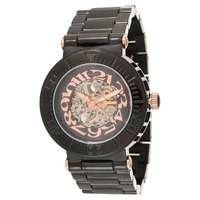 Mount Royale Men's Watch Black Dial Stainless Steel Band-7S68