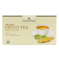 Earth's Finest Organic Green Tea with Ginger 37.5g